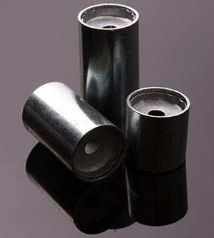 Composite panel steel ferrules